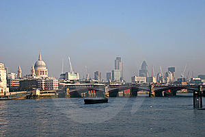 View Along River Thames Royalty Free Stock Image - Image: 7766486