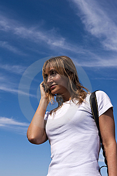 Young Woman Talking On A Cellphone Royalty Free Stock Image - Image: 7767866
