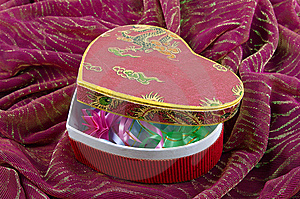 Box -heart For Gift. St Valentines Day. Stock Photography - Image: 7767982