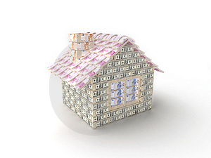 The House Made Of 100 Dollar Stock Photos - Image: 7769613