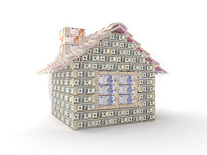 The House Made Of 100 Dollar Royalty Free Stock Photos - Image: 7769628