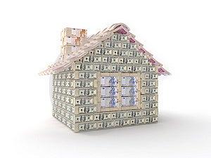 A Casa Feita De 100 Dólares Fotos de Stock Royalty Free - Imagem: 7769628