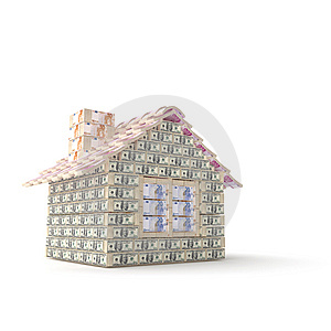 The House Made Of 100 Dollar Royalty Free Stock Photo - Image: 7769815