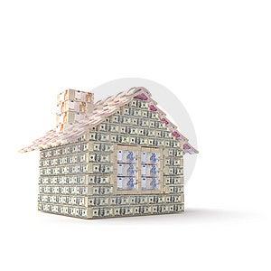 Das Haus Gemacht Von 100 Dollar Lizenzfreies Stockfoto - Bild: 7769815