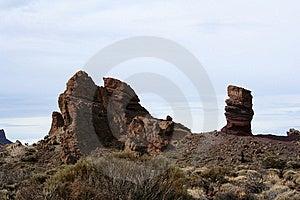Roque Cinchado In Teide Park Royalty Free Stock Photos - Image: 7771248