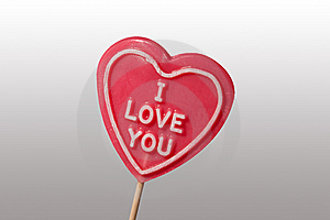 I Love You Lollypop Royalty Free Stock Photography - Image: 7772137