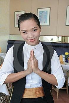 Waitress At Work Royalty Free Stock Photos - Image: 7773828