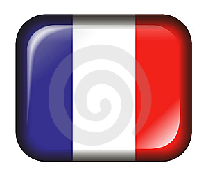 France Flag Button 3d Effect Isolated In White Royalty Free Stock Image - Image: 7774876