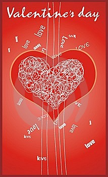 Valentine's Card Royalty Free Stock Photos - Image: 7776968
