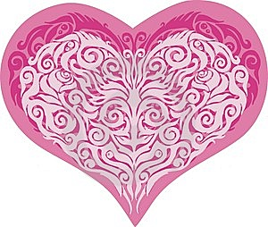 Vector Valentine Heart Stock Images - Image: 7777044