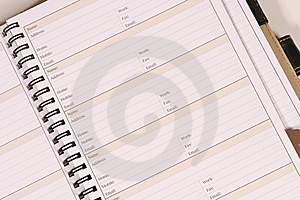 Day Planner Royalty Free Stock Images - Image: 7779119
