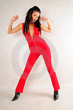 Red Cat Suit Royalty Free Stock Photo - Image: 7779795