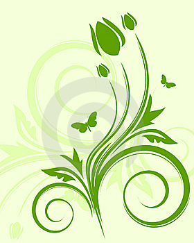 Green Floral Background Royalty Free Stock Photos - Image: 7784588