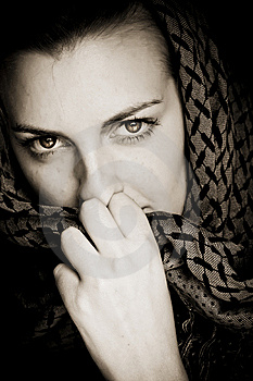 Woman With Covered Face Stock Image - Image: 7785361