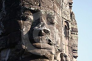Gigantic Carved Head Royalty Free Stock Images - Image: 7785729