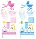 Baby items Stock Photos