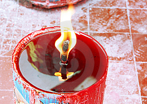 Candle Light On Chinese Temple Royalty Free Stock Image - Image: 7790436
