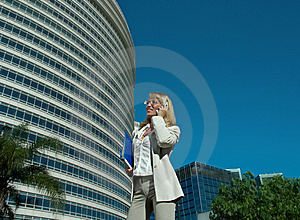 Business Woman Speak On The Phone Stock Image - Image: 7792201