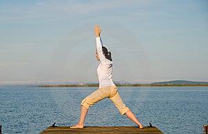 Donna di yoga Fotografia Stock Libera da Diritti
