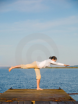 Yoga Woman Free Stock Photography