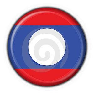 Laos Button Flag Round Shape Stock Photo - Image: 7797160