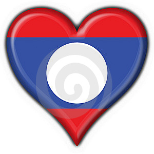 Laos Button Flag Heart Shape Royalty Free Stock Photo - Image: 7797165