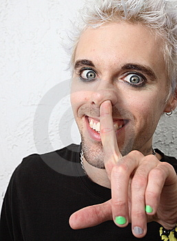 Man Picking Nose Stock Image - Image: 7798661
