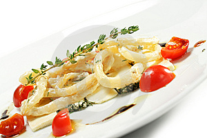 Salad With Calamari Rings And Tomato Stock Images - Image: 7799374