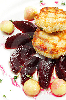 Chicken Confit With Pickled Beet Royalty Free Stock Photography - Image: 7799397