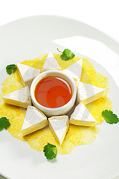 Fromage Cheese With Honey Orange Sauce Royalty Free Stock Photography - Image: 7799407