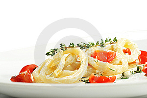 Salad With Calamari Rings And Tomato Royalty Free Stock Image - Image: 7800836