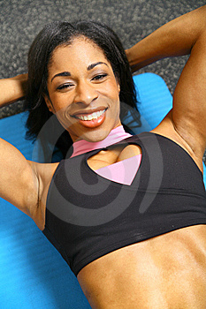 Woman Doing Sit Up Stock Photos - Image: 7801123