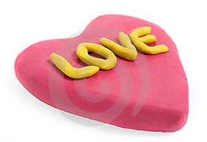 Plasticine Valentine Royalty Free Stock Photos - Image: 7801158