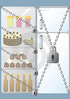 Fridge With Lock Stock Photos - Image: 7803753