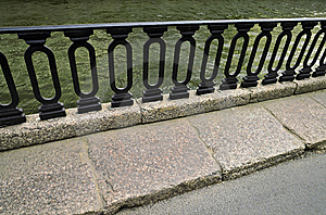 Iron Railings At Moika River Embankment Stock Images - Image: 7803894