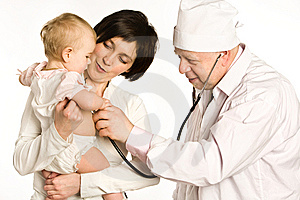 Visit to the doctor Royalty Free Stock Image