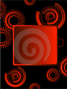 Gears Over Black Background Stock Image - Image: 7804961