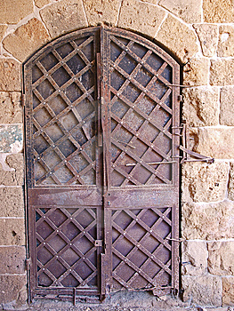 Old Iron Door Stock Photo - Image: 7805190