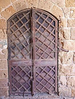 Old Iron Door Stock Photo - Image: 7805190