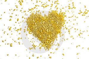 Coração Dourado Fotos de Stock - Imagem: 7805843