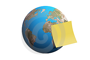 Planet Earth, Word, Message, Post-It Stock Images - Image: 7806354