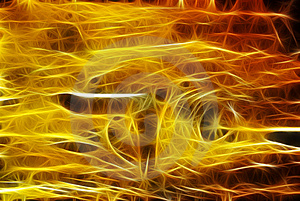 Colorful Rays Of Light Resembling Electric Waves O Royalty Free Stock Image - Image: 7807766