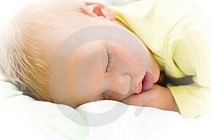 Restful Baby Boy Sleeping On Bed Stock Photos - Image: 7808743