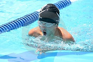 Breast Stroke Swimming Boy Stock Photos - Image: 7809913