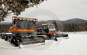 Ski Trail Groomers Stock Photos - Image: 7809973