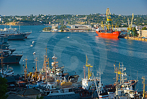 In A Port Royalty Free Stock Photos - Image: 7810418