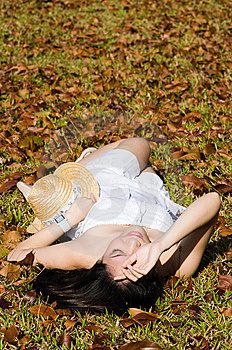 Beautiful Asian Girl In The Park Stock Photos - Image: 7811833