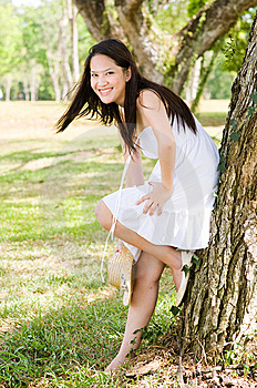 Beautiful Asian Girl In The Park Royalty Free Stock Photos - Image: 7812208