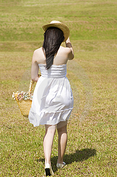 Beautiful Asian Girl In The Park Royalty Free Stock Images - Image: 7812249