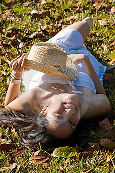Beautiful Asian Girl In The Park Stock Photography - Image: 7812612
